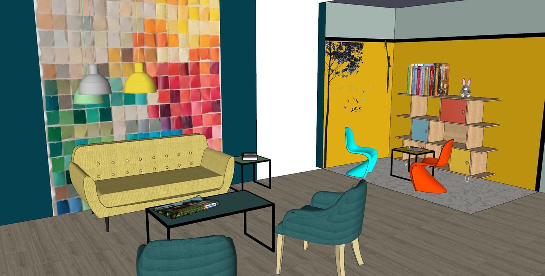 Avant-projet pour hall d'accueil d'un constructeur de maisons