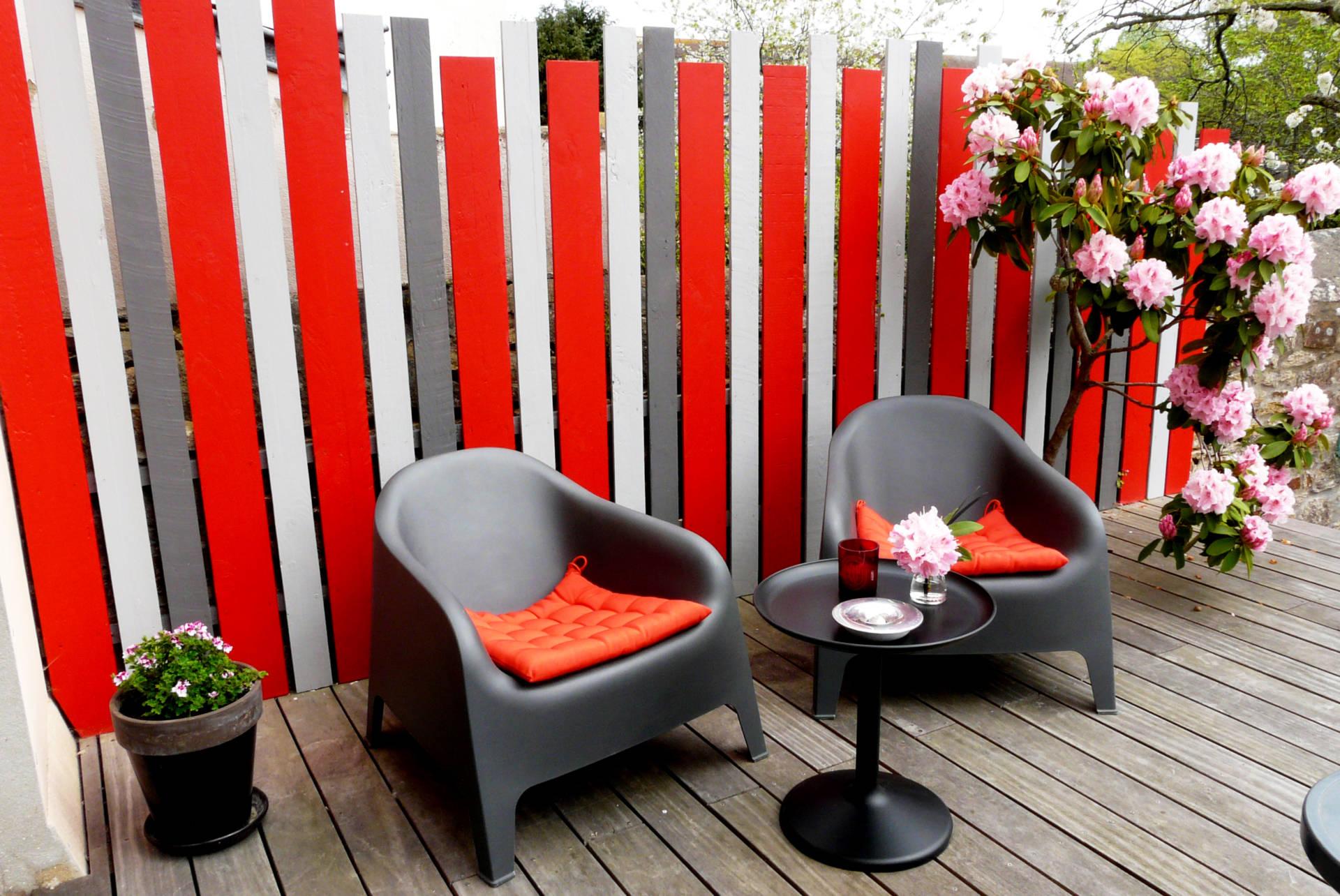 Une terrasse haute en couleur !