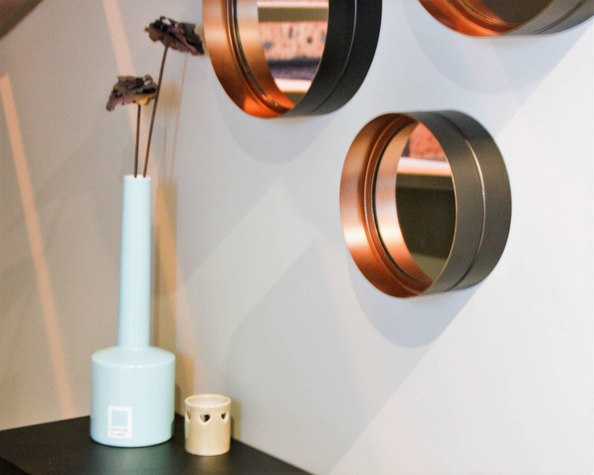 Miroir acier, console acier Matière Grise Création ambiance à Guidel Visite conseils déco