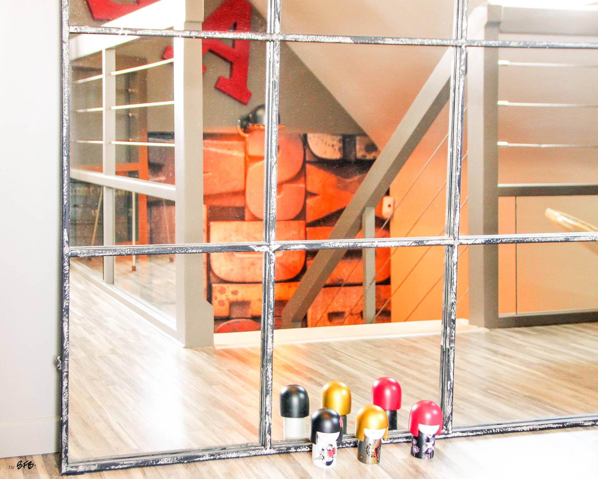 Réaménagement d'un hall d'entrée avec création ambiance à Guidel, by Agence BFB, miroir industriel, Lorient