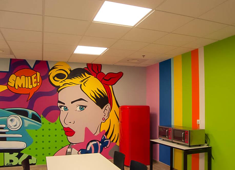 Aménagement et décoration Salle de Pause en agroalimentaire - Agence BFB Lorient, île de Ré - salle restauration Pontivy - claustra séparatif