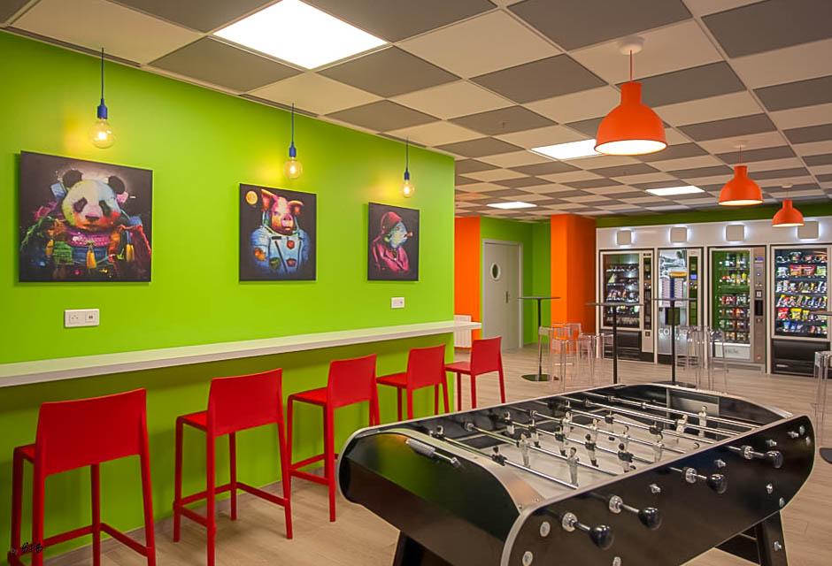 Aménagement et décoration Salle de Pause en agroalimentaire - Agence BFB Lorient, ïle de Ré - salle restauration Pontivy - - Espace relaxation - Salle de pause Pontivy