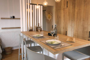 Rénovation appartement Ploemeur by Agence BFB Morbihan et Ile de Ré, espace repas