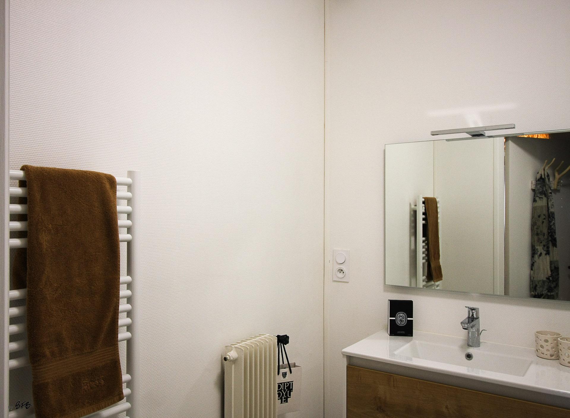 Rénovation appartement Ploemeur by Agence BFB Morbihan et Ile de Ré, la salle d'eau partiellement rénovée