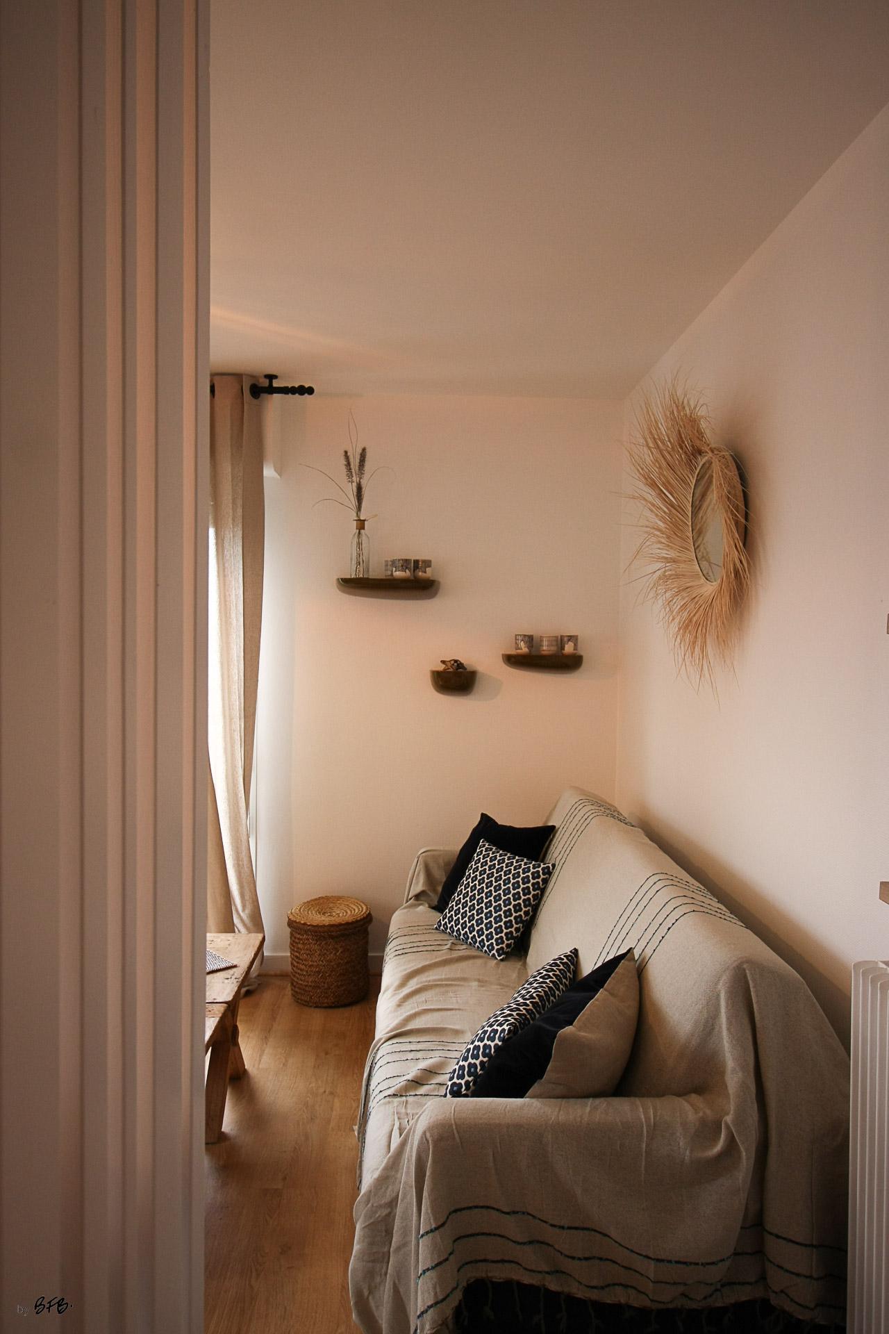 Rénovation appartement Ploemeur by Agence BFB Morbihan et Ile de Ré, espace salon
