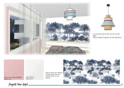 Décoration maiLe Book 3D, une prestation de Décoration par Brigitte Ferré-Bigot, Décoratrice d'intérieur à Lorient : les coloris de la chambre d'amis